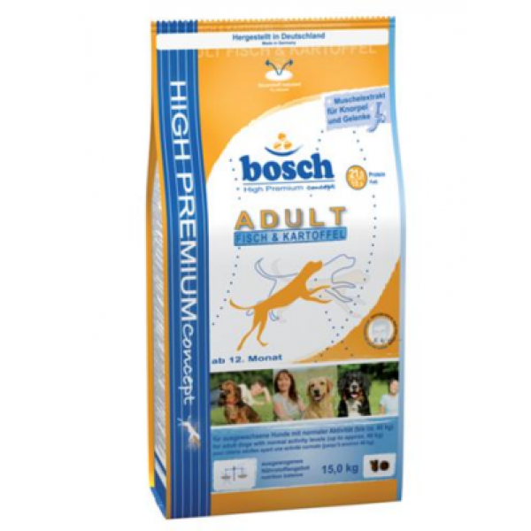 Bosch Adult Fish&Potatoes 15 kg